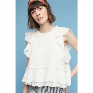 Anthropologie Maeve Cascade tiered shell NWT Small